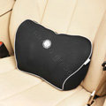 GIGI Auto Car Lumbar Pillows Synthetic Fiber Cotton Lumbar - Black