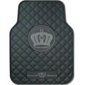 Garson Logo Universal Automobile Carpet Car Floor Mat Rubber 5pcs Sets - Black