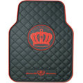 Garson Logo Universal Automobile Carpet Car Floor Mat Rubber 5pcs Sets - Red