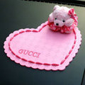 Gucci Automobile Non-Slip Mat PVC Bear Car Anti-Slip Mat Plastic - Pink