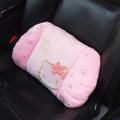 Hello Kitty Auto Car Lumbar Pillows Plush Cotton - Pink