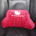 Hello Kitty Auto Car Lumbar Pillows Plush Cotton - Rose