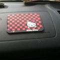 Hello Kitty Automobile Non-Slip Mat PVC Cartoon Car Anti-Slip Mat Squares - Red