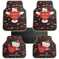 Hello Kitty Universal Automobile Carpet Car Floor Mat Rubber Love Me 5pcs Sets - Red