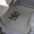 JP Logo Universal Automobile Carpet Car Floor Mat Rubber Junction Produce 5pcs Sets - Beige