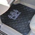 JP Logo Universal Automobile Carpet Car Floor Mat Rubber Junction Produce 5pcs Sets - Gray