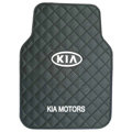 KIA Logo Universal Automobile Carpet Car Floor Mat Rubber 5pcs Sets - Black