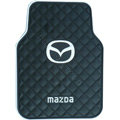 Mazda Logo Universal Automobile Carpet Car Floor Mat Rubber 5pcs Sets - Black