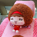 Mocmoc Auto Neck Pillows Cars Headrest Plush Cotton China - Red