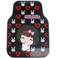 Mocmoc Universal Automobile Carpet Car Floor Mat Rubber Rabbit 5pcs Sets - Red