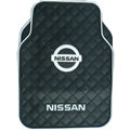 Nissan Logo Universal Automobile Carpet Car Floor Mat Rubber 5pcs Sets - Black
