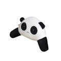 Panda Auto Car Lumbar Pillows Plush Cotton Hand Open Eyes - White