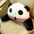 Panda Auto Car Lumbar Pillows Plush Cotton Hand Squinting - Red