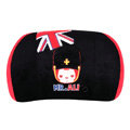 Peach & Ali Auto Car Lumbar Pillows Plush Cotton British Flag - Black