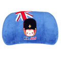 Peach & Ali Auto Car Lumbar Pillows Plush Cotton British Flag - Blue