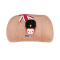 Peach & Ali Auto Car Lumbar Pillows Plush Cotton British Flag - Brown