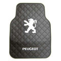 Peugeot Logo Universal Automobile Carpet Car Floor Mat Rubber 5pcs Sets - Black