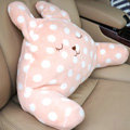 Rabbit Auto Car Lumbar Pillows Plush Cotton Hand Point - Beige