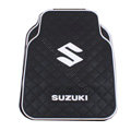 Suzuki Logo Universal Automobile Carpet Car Floor Mat Rubber 5pcs Sets - Black