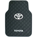 Toyota Logo Universal Automobile Carpet Car Floor Mat Rubber 5pcs Sets - Black