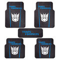 Transformers Universal Automobile Carpet Car Floor Mat Rubber Decepticon 5pcs Sets - Blue