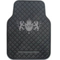 VIP Logo Universal Automobile Carpet Car Floor Mat Rubber 5pcs Sets - Black