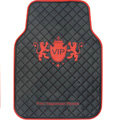 VIP Logo Universal Automobile Carpet Car Floor Mat Rubber 5pcs Sets - Red