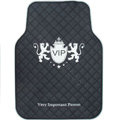 VIP Logo Universal Automobile Carpet Car Floor Mat Rubber 5pcs Sets - White