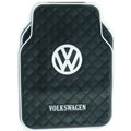 Volkswagen Logo Universal Automobile Carpet Car Floor Mat Rubber 5pcs Sets - Black