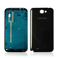 Original Front Housing Battery Back Cover For Samsung N7100 GALAXY Note2 - Black