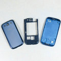 Original Full Set Housing Middle Board Battery Cover for Samsung Galaxy SIII S3 I9300 - Blue
