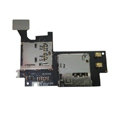 Original SIM & Multimedia Card Socket Flex Cable Ribbon For Samsung N7100 GALAXY Note2 - Black