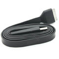 Colored Flat USB Data Cable for iPhone 3G/3GS/4G/4S iPad 2/The New iPad 100CM - Black