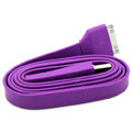 Colored Flat USB Data Cable for iPhone 3G/3GS/4G/4S iPad 2/The New iPad 100CM - Purple