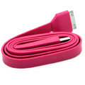 Colored Flat USB Data Cable for iPhone 3G/3GS/4G/4S iPad 2/The New iPad 100CM - Rose