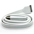 Colored Flat USB Data Cable for iPhone 3G/3GS/4G/4S iPad 2/The New iPad 100CM - White