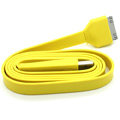 Colored Flat USB Data Cable for iPhone 3G/3GS/4G/4S iPad 2/The New iPad 100CM - Yellow