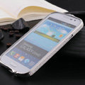 Swarovski Bling Metal Bumper Frame Case Cover for Samsung GALAXY S4 I9500 SIV - Silver