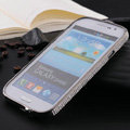 Swarovski Bling Metal Bumper Frame Case Cover for Samsung i9080 i9082 Galaxy Grand DUOS - Black