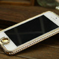 Swarovski Bling Metal Bumper Frame Case Cover for iPhone 5 - Gold