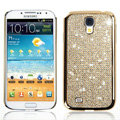 Swarovski Bling Metal Diamond Case Cover for Samsung GALAXY S4 I9500 SIV - Gold