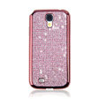 Swarovski Bling Metal Diamond Case Cover for Samsung GALAXY S4 I9500 SIV - Pink