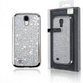 Swarovski Bling Metal Diamond Case Cover for Samsung GALAXY S4 I9500 SIV - Silver