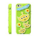 3D Stitch Cover Disney DIY Silicone Cases Skin for iPhone 5C - Green