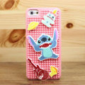 3D Stitch Cover Disney DIY Silicone Cases Skin for iPhone 5C - Pink