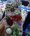 Bling Swarovski crystal cases Ballet girl Bowknot diamond cover for iPhone 5C - Red
