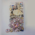 Bling Swarovski crystal cases Ballet girl diamond cover for iPhone 5C - Pink