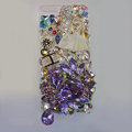 Bling Swarovski crystal cases Ballet girl diamond cover for iPhone 5C - Purple