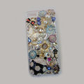 Bling Swarovski crystal cases Beetle Butterfly diamond cover for iPhone 5C - Black