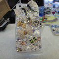 Bling Swarovski crystal cases Bowknot diamond cover for iPhone 5C - White